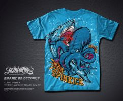 Shark vs Octopus Spinkick by treecore