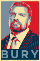 Triple H 'Bury' Poster - Obama's 'Hope' Style by skilled97