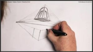 Learn how to draw three point perspective 009 by drawingcourse
