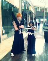 Ichigo and Rukia by IronicAlchemist