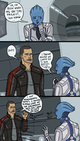 ME3: Sexually Reluctant Shepard - Liara by sparkyHERO