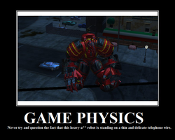 Game Physics Motivational Poster by Aleronssword