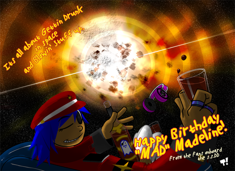 Space Pirated Birthdays by teraissa