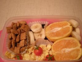Breakfast for Dinner Bento by droppedfork