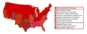 USA With Chinese Political Parties by Mattystereo