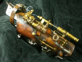 Sheriffs Steampunk Side arm by Skinz-N-Hydez