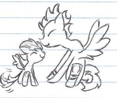 Sky Paw kissing Blue Flame Doddle by LittyKittyStar