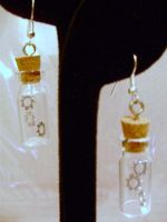 Suspension Gears Vial Earrings by pervyyaoifancier