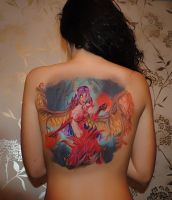 Morgana on the back of my friend. by franxxxholic