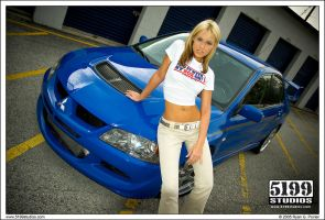 Lancer Evo and Kelly C Wall 02 by scarcrow28