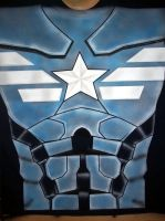 captain america t shirt winter soldier airbrushed by javiercr69