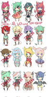 Unicorns and other Kemonomimis Set| PRICE REDUCED by chuguri
