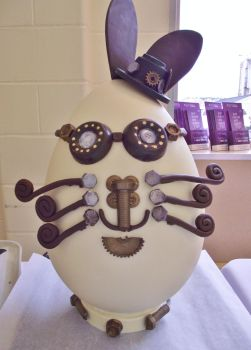 Chocolate Steampunk Easter Bunny Egg by TinaCaper