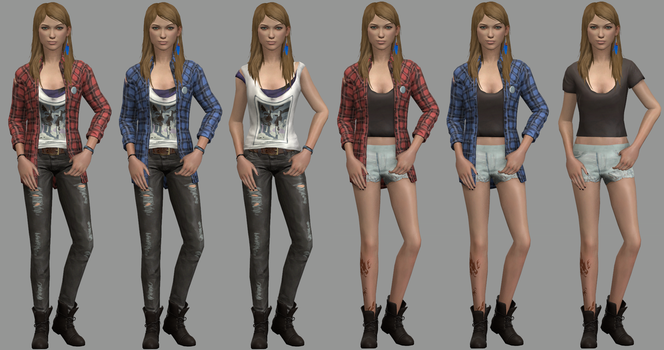 Rachel Amber Alternate Outifts (V2) by CamKitty2