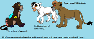 Scott And Nell And Trey All Open For Breeding by Natalia-Clark