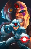 Mega Man Dawn of X fan art contest p by LordWilhelm