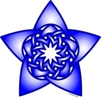 Blue Star Knot by bigblued