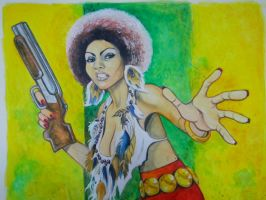 Pam Grier Close Up by TessFowler