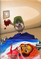me and my paintings... by tenseone