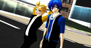 _MMD_ Just chilling by xXHIMRXx