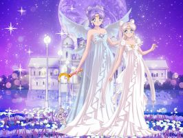 Queen Selenity and Princess Serenity I by LadyIlona1984