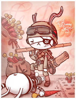 Bunny soldier by Sheharzad-Arshad