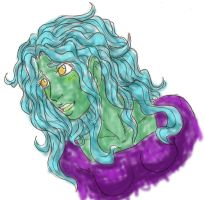 Vine seaweed hair - airbrushed by Doodlebotbop
