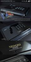 PS3 Arcade Stick Mod SNK Neo Geo Style by ogamitaicho