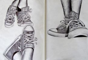 Shoe sketch by adrianejoseph
