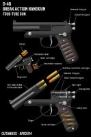 FOUR-BARREL HAND GUN by CUTANGUS