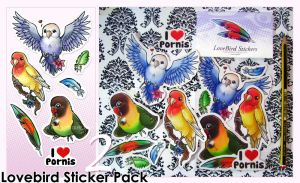 Lovebird Stickers -Pack 2- by Bea-Gonzalez