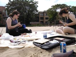 painting on the beach by Squall1015
