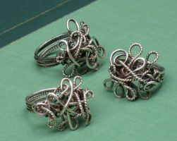 Silver Chaos Rings by AniqueDesigns