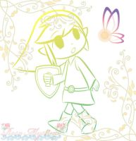 Lineart Toon Link by Rosa-Mystical