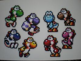 Yoshis by 8-BitBeadsStudio