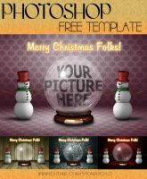 PHOTOSHOP | FREE TEMPLATE FOR CHRISTMAS! | by yiyo-marcelo