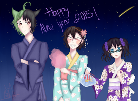 Hoodie Trios: Happy New Year! by ImaiAiko