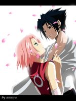 sasuke and sakura by annria2002