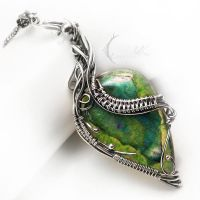 ARTILVEEN - silver , agate and chrysoprase by LUNARIEEN