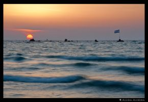Sunset in Jaffa by avirama85