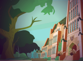 Monster High School Front background by ThestralWizard