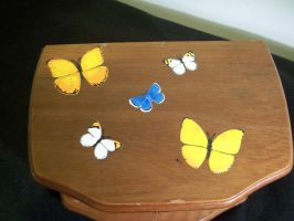Butterfly Jewelry Box Cover by KimsButterflyGarden
