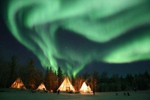 Northern Lights and Teepees 6 by LivingDeadSuperstar