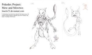 Pokedex Project: Mew and Mewtwo by lmerlo72