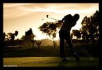 Golf Swing on Sunset by aphaits