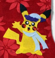 Pikachu Stocking (Winter Outfit 5) by MeMiMouse