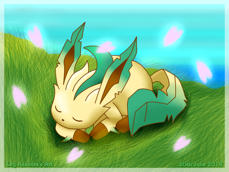 Harmonic Leafeon [Fan Art] by LeyAsakura