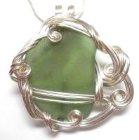 Green Maine Sea Glass Necklace by sojourncuriosities