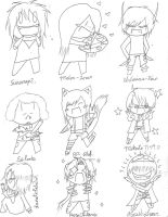 Incentive Chibis Batch 1 by KaitousBlackWings
