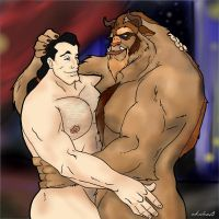Gaston and The Beast by arkahno